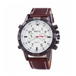 s men white leather strap sport watches casual dial mens nigeria buy curren online konga weite watch